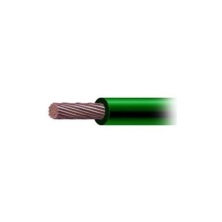 Cable de Cobre Recubierto THW-LS Calibre 4 AWG 19 Hilos Color Verde (Venta por Metro)