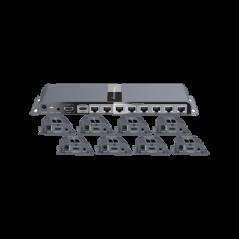 Kit completo Distribuidor de 1 entrada HDMI a 8 salidas a 1080p Splitter HDMI 1x8 1 entrada 8 salidas