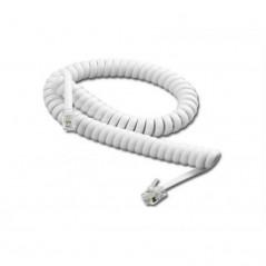 Cable para teléfono espiral de 2.10 Metros Cable espiral para teléfono cable para auricular Cable telefónico blanco