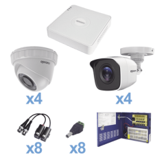 Paquete Camara Vigilancia 8 Camaras Kit de 8 Camaras de Seguridad Paquete de 8 Camaras de CCTV