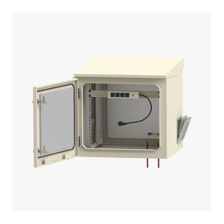 """Gabinete de Exterior con Rack de 19"""" de 9U con Ventiladores y Termostato Gabinete para Exterior Himmel"""