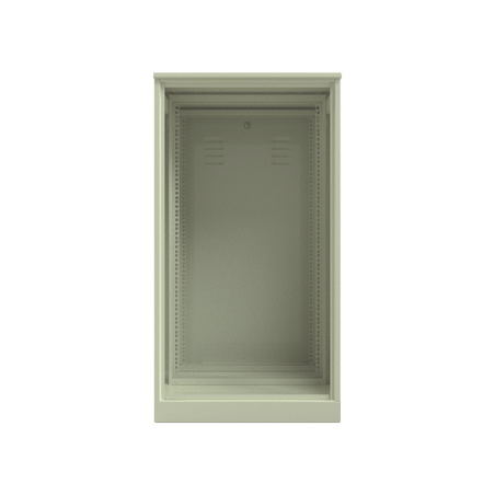 """Gabinete de Uso Rudo con Rack Estándar De 19"""" 20 UR. Doble Puerta. Gabinete para Exterior de 19"""""""