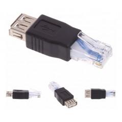Adaptador Rj45 A Usb Hembra - Convertidor Ethernet A Usb Convertidor de internet por usb adaptador de RJ45 a USB