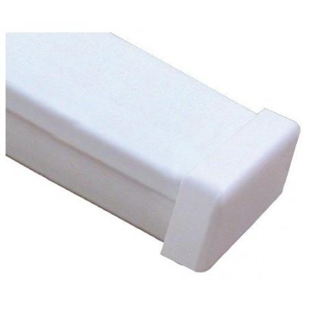 Tapa final color blanco de PVC auto extinguible Tapa para canaleta tapa final para Canaleta plastica 1020