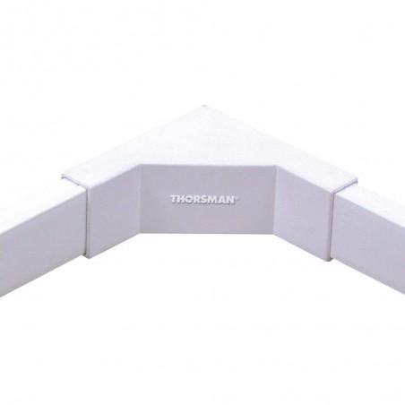 Esquinero interior blanco de PVC auto extinguible Codo para canaletas 1020 Codo para canaleta interior blanco