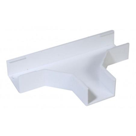 """Sección en """"T"""" color blanco de PVC auto extinguible Accesorio en T para canaleta T para canaleta plástica PVC"""