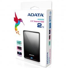 Disco Duro Externo Adata 2tb Negro Slim Ahv620s-2tu31 3.0 Disco duro de 2 TB disco duro de 2 teras externo