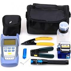 Kit De Herramientas Fibra Óptica Con Medidor De Potencia 10km kit para instalación de fibra óptica