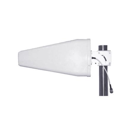 Antena direccional logarítmica de 11 dBi de ganancia. Especial para cualquier dispositivo celular 698-960 MHz