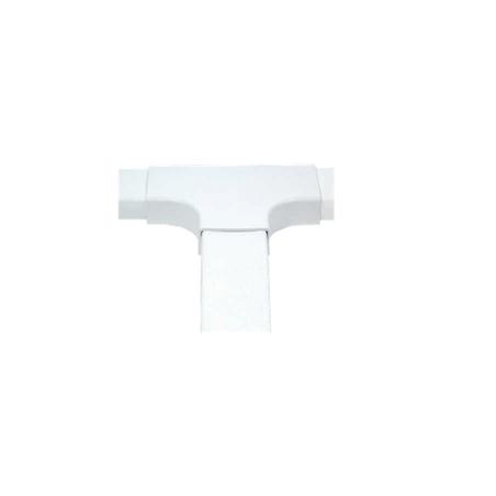 """Sección En """"T"""" Color Blanco De PVC Auto Extinguible Accesorio En T Para Canaleta T Para Canaleta Plástica PVC para 4820"""