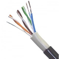 (Venta x Metro) Cable UTP para exterior Cable por Metro Cable UTP para Exterior por metro Cat.6 Categoría 6