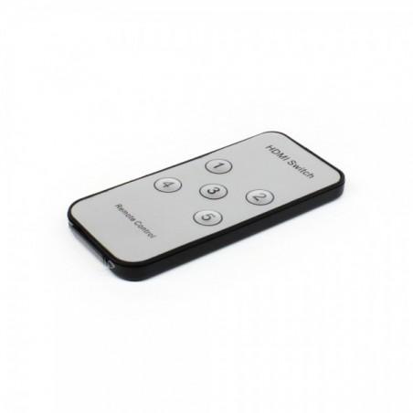 Switch HDMI 5 entradas 1 Salida Switch de HDMI para 5 pantallas / 1 entrada con control remoto