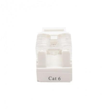 Módulo Jack Keystone Cat6 con terminación 110 para faceplate - Color Blanco Jack cat6 Jack Blanco Cat. 6
