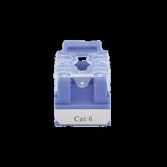 Módulo Jack 110 Cat6, Keystone para faceplate - Color Azul Jack Cat6 Jack Cat.6 Jack azul para Faceplate