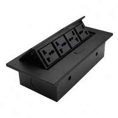 Caja para Mesa Panel de conexiones Panel para escritorio modulo de contactos para mesa 4 Puertos de Energía