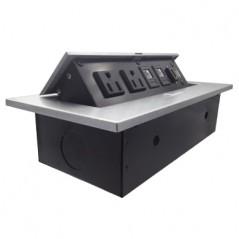 Caja Para Mesa Panel De Conexiones Panel Para Escritorio Modulo De Contactos Para Mesa 1 HD / 2 RJ45 / 1USB / 2 AC