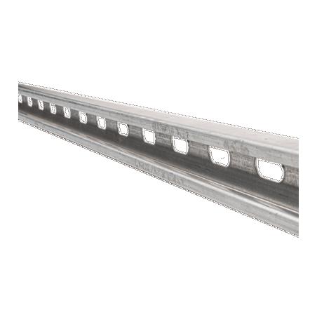 Unicanal perforado 4x2, 3000 mm, con acabado Electro Zinc Tramo de Unicanal Unicanal perforado de 3 metros