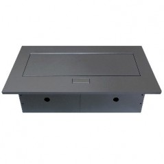 Caja para Mesa HDMI USB RJ45 AC Color Negro Caja para escritorio panel de conexiones para escritorio Modulo de mesa