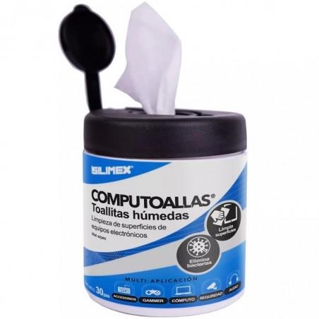 Toallas húmedas antibacteriales, para limpieza de gabinetes, equipos de cómputo, audio, vídeo y telefonía