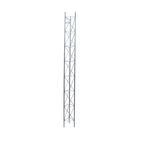 Tramo de Torre Arriostrada de 3m x 45cm, Galvanizado por Electrólisis, Hasta 60 m de Elevación. Zonas Secas.