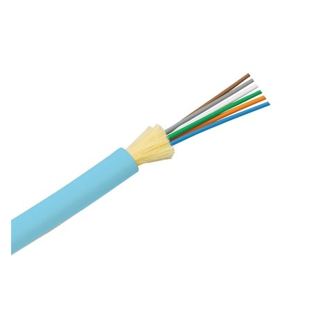 Cable de Fibra Óptica de 6 hilos, Multimodo OM3 50/125 Optimizada, Interior Dieléctrica Riser