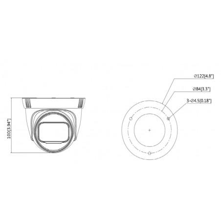 Camara IP Domo 2 MP Camara de 2 megapixeles Lente Motorizado 2.8 a 12 mm IR de 40 Mts IP67