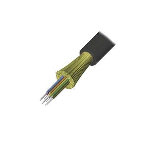Cable de Fibra Óptica de 6 hilos, Interior/Exterior Dieléctrica Monomodo LS0H OS1/OS2 9/125, 1 Metro