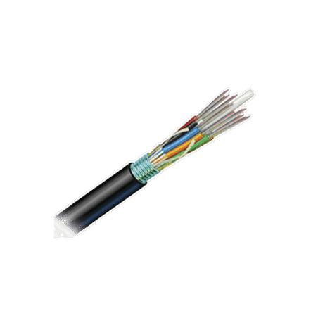 Cable de Fibra Óptica 6 hilos, OSP Planta Externa Armada Gel HDPE  Multimodo OM3 50/125 Optimizada, 1 Metro