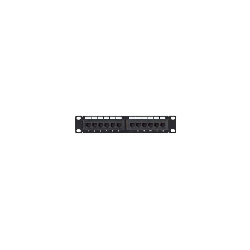 "Panel de parcheo de impacto (110) UTP de 12 puertos Cat5e, 10"" Patch panel de 12 puertos Patch de 12 puertos"