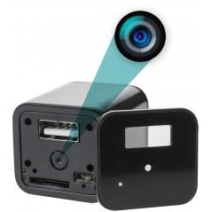 Cámara Espía 1080p Wifi Forma De Cargador Usb 128gb App Cel Camara Forma de Cargador Cuadro Cuadrito