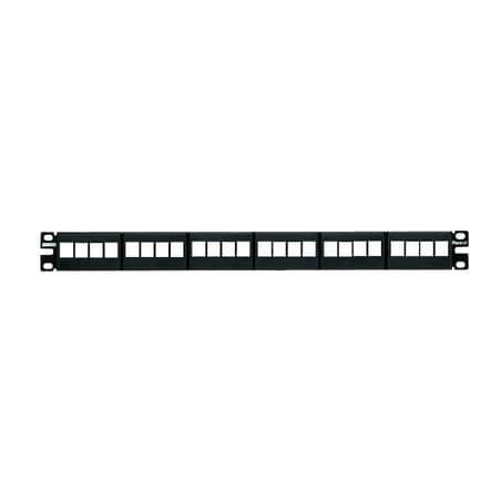 Panel de Parcheo Modular Keystone (Sin Conectores), de 24 Puertos Patch panel Cat5e 24 puertos