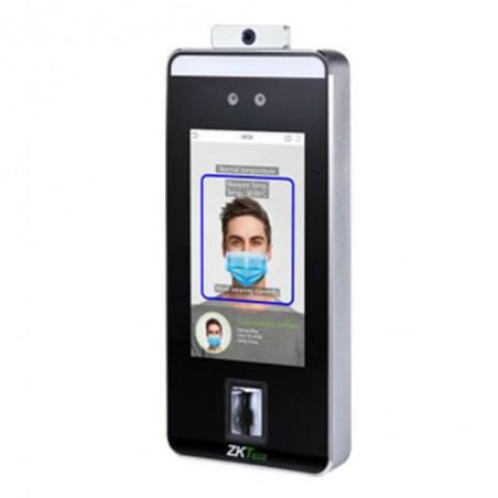 Terminal de Control de Acceso y Asistencia de Reconocimiento Facial y Palma Detección de Temperatura