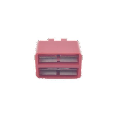 Clip de Puente, Para Uso con Regletas S66 de Siemon, de 1 par, Color Rojo