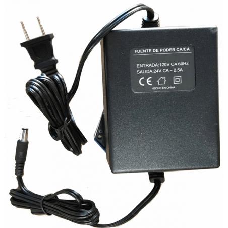 Fuente de poder 24V CA 2.5 Amperes Transformador de Corriente Alterna Fuente Alterna