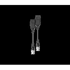 Par de transceptores pasivos HD Distancias CVI 720p a 300M 1080p A 250M 4 MP A 200M 4K A 150M