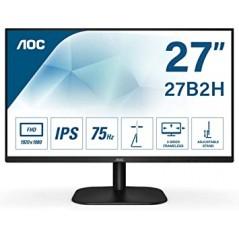 """Monitor LED de 27"""" VESA, Resolución 1920 x 1080 Pixeles, Entradas de Video VGA / HDMI. Ultra Delgado"""