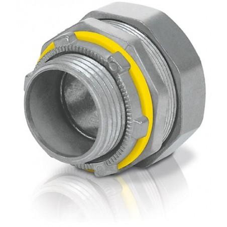 """Conector Hermético Recto 3/4'' Voltech 46931Conector para Manguera de plástico con metal Liquid Tight de 3/4"""""""