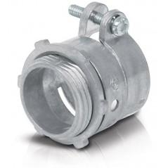 Conector Recto Tubo Flexible Metalico 1/2'' Voltech 47340 Conector para Manguera Para tubo metalico de 1/2 media