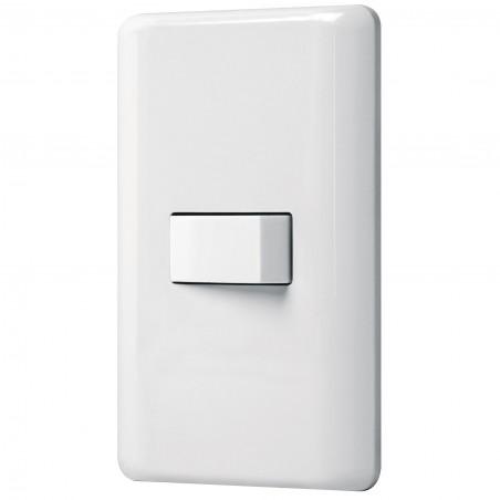 Placa Armada Con 1 Interruptor Sencillo Volteck Basic 25078 Paquete de placa de pared doble con interruptor sencillo de pared