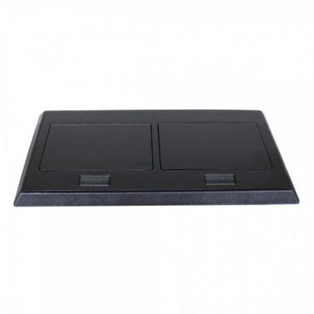 Panel de Conectores para escritorio Panel para escritorio 2AC / 2RJ45 Cat6 / 1 VGA / 1 Aux 3.5 / 1 HDMI Modulo para Escritorio