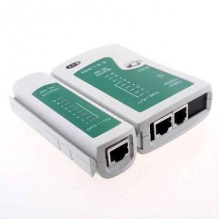 Tester Rj45 Rj11 Probador Cable Red Y Telefónico Utp Probador de Cable RJ45/RJ11 Tester probador