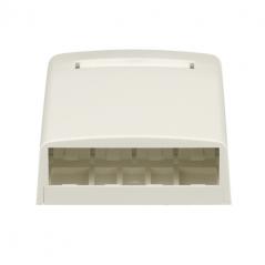 Caja Mini-Com para 4 modulos Blanco Caja para 4 Jacks panduit Caja tipo universal para Jack panduit