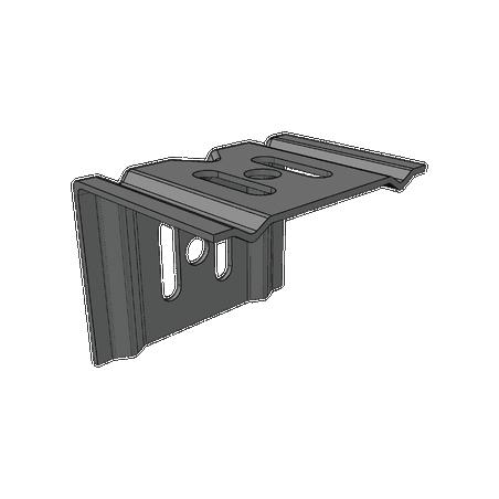 Ménsula económica MallaFils, para montaje en pared, para anchos de charola de 50 mm, con acabado electrozinc