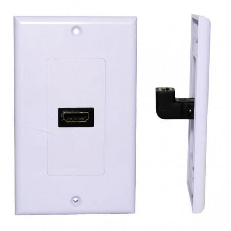 Placa de Pared HDMI 1 puerto 1080p PVC 2x4 Blanca Faceplate con HDMI placa HDMI