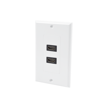 Placa de pared HDMI 2 puertos 1080p PVC 2x4 Blanca Placa de Pared de 2 puertos HDMI Hembra-Hembra