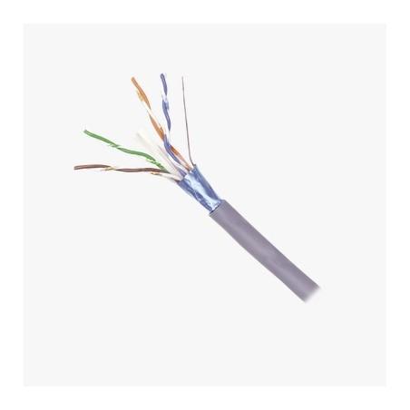 Bobina de Cable Blindado F/UTP de 4 Pares, Z-MAX, Cat6A, Soporte de Aplicaciones 10GBase-T, CM, Color Gris, 305m