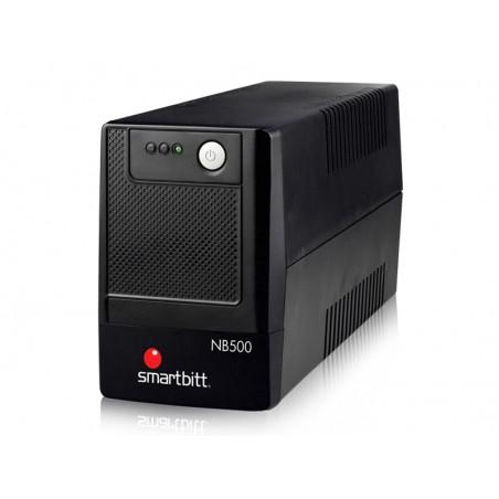 UPS regulador de voltaje Smartbitt Smart Interactive SBNB500 500VA entrada y salida de 120V CA negro