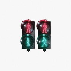 Semáforo peatonal con indicador alto/siga estático Semáforo de peatones para personal Semáforo