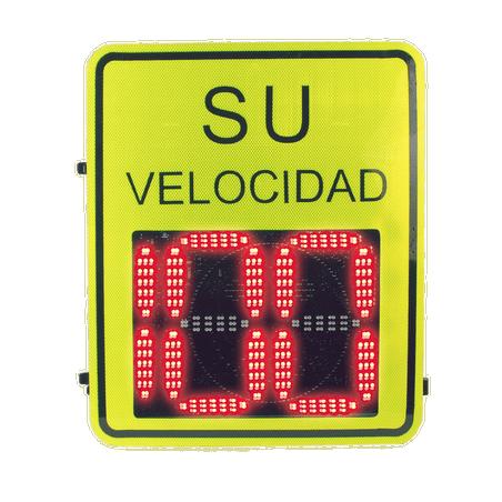 Radar Medidor de Velocidad de 3 Dígitos / Salida de Relevador / Bluetooth / Detección de Exceso de Velocidad