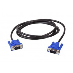 Cable VGA 15 Metros Macho a Macho Cable VGA Puntas Azules Cable DB15 de 15 Metros Cable de Video